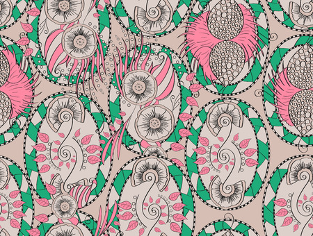 Feminine pattern in the style of the Victorian nobility emphasizes romance, reminiscent of the gardens and manicured flower beds.