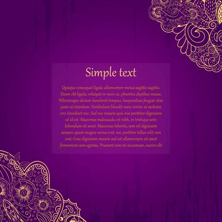 pleased: Purple and gold perfectly symbolize the spirit of the holiday and are suitable for greetings. You can insert your own text. A person will be pleased to receive such.