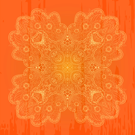 mehendi: Figure mehendi style pattern for application on the skin or on different surfaces. For temporary tattoos.