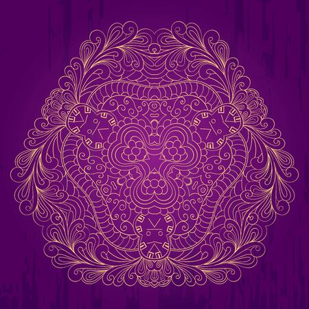 refreshed: Purple and gold perfectly symbolize the spirit of the holiday and are suitable for greetings.