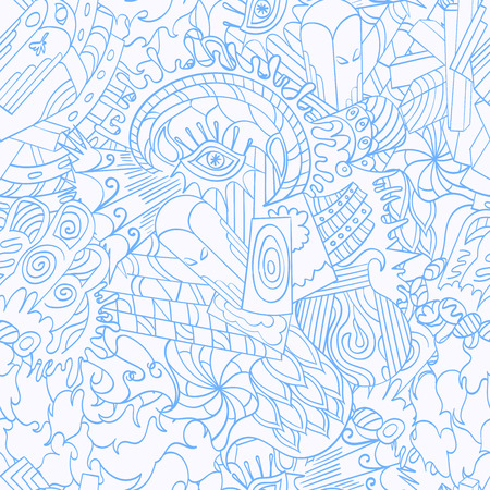 disorient: Seamless pattern symbolizing the subconscious Illustration