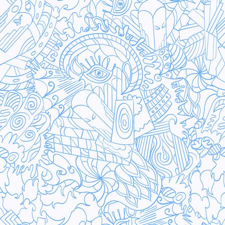 Seamless pattern symbolizing the subconscious Illustration