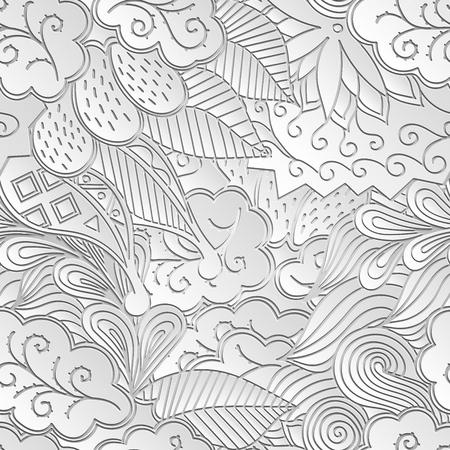 impulsive: Seamless mehndi 3d imitation pattern Illustration