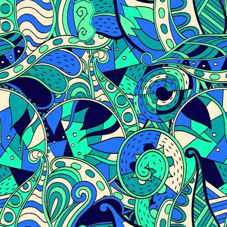 disegni cachemire: Senza soluzione di continuit� disegno mehndi trafori. Paisley, avvolgimento gambo, spirale, onda, gemma mehndi scarabocchio. Handmade consistenza naturale stato d'animo. Linee curve, scarabocchi disegno. Buon per sfondo del sito.