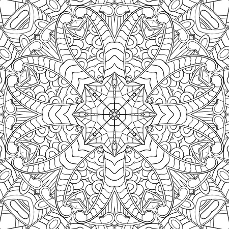 textura alfombra: Handmade tracery carpet texture, seamless. Hand-drawn curved lines, loops, doodling tile design. Asian mehndi style.  For textile, printing, building materials, plates, dish, tableware. Vector.