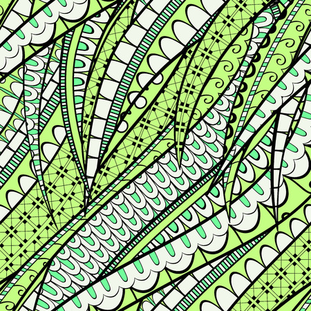 nodules: Tracery calming pattern. Mehendi design. Neat even colorful harmonious doodle texture. Silt algae, sea motif, tentacles. Ambitious, bracing, usable curved doodling mehndi. Vector.