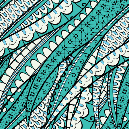 bracing: Tracery calming pattern. Mehendi design. Neat even colorful harmonious doodle texture. Silt algae, sea motif, tentacles. Ambitious, bracing, usable curved doodling mehndi. Vector.