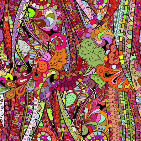 Tracery colorful pattern. Mehendi design. Neat even harmonious calming doodle texture. Algae sea varied motif. Indifferent discreet, soulful. Ambitious bracing usable, curved doodling mehndi. Vector.
