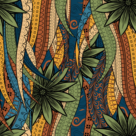 magnificence: Tracery seamless calming pattern. Mehendi design. Neat even colorful harmonious doodle texture. Algae sea motif. Indifferent discreet. Ambitious bracing usable, curved doodling mehndi. Vector.