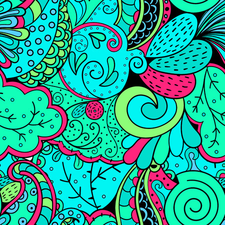 magnificence: Tracery seamless calming pattern. Mehendi design. Neat even green blue sea harmonious doodle texture. Algae sea motif. Indifferent discreet. Ambitious bracing usable, curved doodling mehndi. Vector.