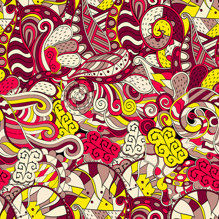 swill: Tracery seamless calming pattern. Mehendi design. Neat even colorful harmonious doodle texture.