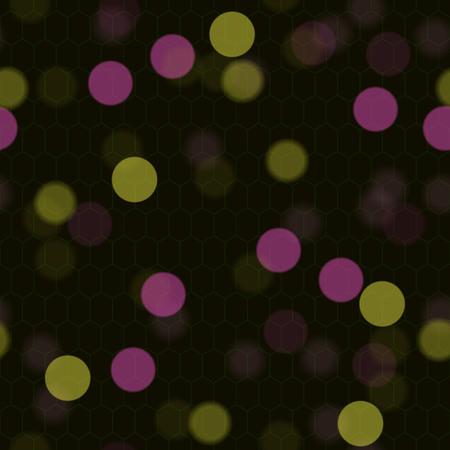 EPS10 brightness seamless lights design. Transparent sparkles. Blurred light. Calming dark background pattern. Neat even orange harmonious backdrop. Simple faded, indifferent discreet texture.  Vector. Illustration