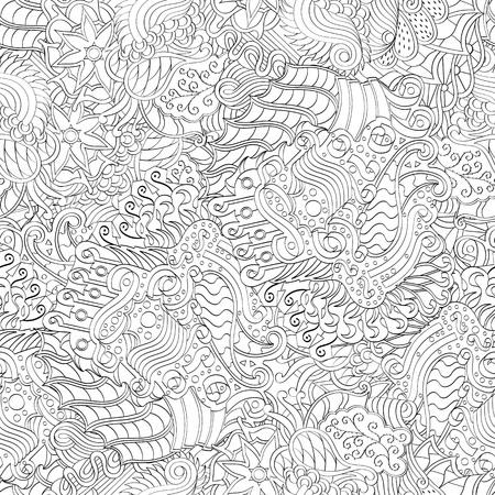 Tracery binäres monochromes Muster. Mehendi-Teppich-Design. Neat sogar harmonische beruhigende Doodle Textur. Auch nahtlos Gleichgültig diskret. Ehrgeizige Verspannung nutzbar, gekrümmte doodling mehndi. Vektor. Vektorgrafik