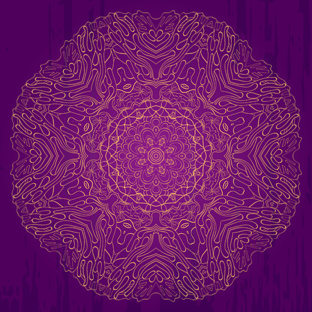 Ray edge mandala tracery wheel mehndi design. Tracery calming ornament. Neat even monochrome harmonious doodle texture. Indifferent discreet. Trace bracing usable doodling mehndi pattern. Vector.