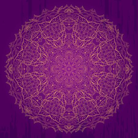 bracing: Ray edge mandala tracery wheel mehndi design. Tracery calming ornament. Neat even monochrome harmonious doodle texture. Indifferent discreet. Trace bracing usable doodling mehndi pattern. Vector.