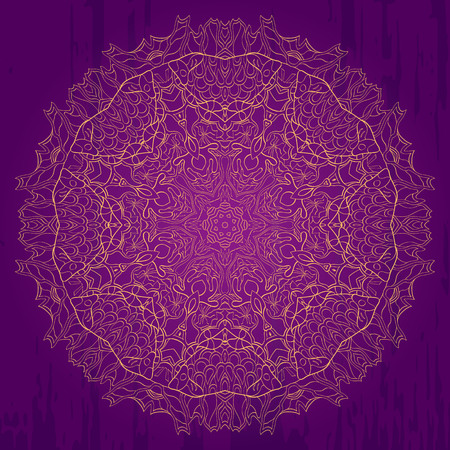 Ray edge mandala tracery wheel mehndi design. Tracery calming ornament. Neat even monochrome harmonious doodle texture. Indifferent discreet. Trace bracing usable doodling mehndi pattern. Vector.