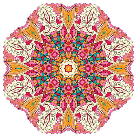 Ray edge mandala tracery wheel mehendi  design. Tracery calming ornament.