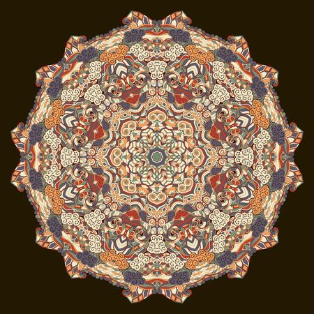 Ray edge mandala tracery wheel mehndi design. Tracery calming ornament.