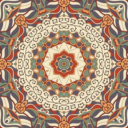unpredictable: Tracery colorful pattern, Mehendi carpet design.