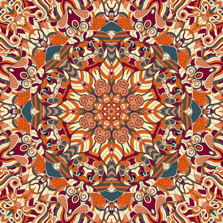 encurtidos: Tracery patrón colorido. Mehendi diseño de la alfombra. Tranquila incluso harmoniosa textura calmante doodle. También transparente. Indiferente discreto. Ambicioso brazalete utilizable, curvado doodling mehndi. Vector. Vectores
