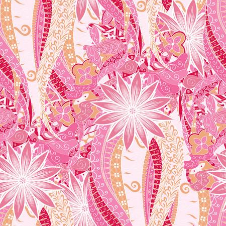 embellishment: Calming pattern Mehendi design, neat even colorful harmonious doodle texture. Illustration