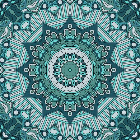 Tracery buntes Muster. Mehendi-Teppich-Design. Neat sogar harmonische beruhigende Doodle Textur. Auch nahtlos Gleichgültig diskret. Ehrgeizige Verspannung nutzbar, gekrümmte doodling mehndi. Vektor. Vektorgrafik