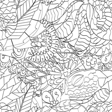 speckle: Tracery seamless calming pattern. Mehendi design. Ethnic colorful harmonious doodle texture. Illustration