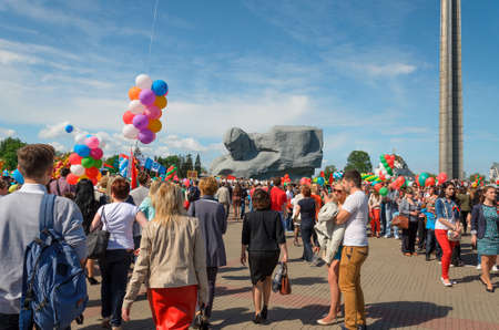 brest: Brest, Belarus - May 9, 2015: Parade in the 70th Victory Day in the Great Patriotic War on May 9 in Brest Editorial