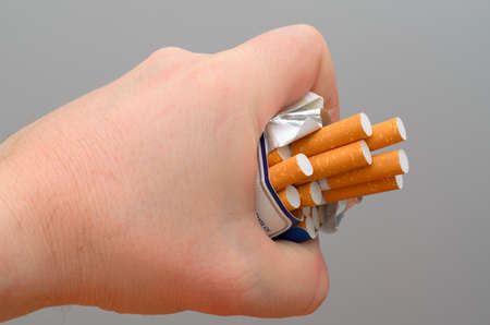 rumple: Healthy lifestyle concept. The new goal - to quit smoking. Stock Photo