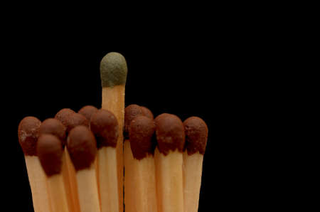 Matches with multi-colored heads.