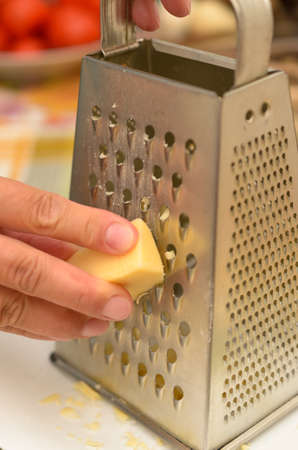 The process of preparing delicious dishes in details using a knife and special tools Stock Photo