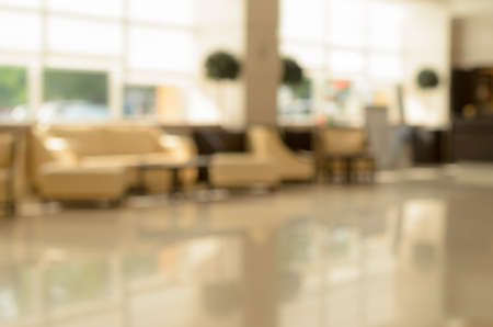 large group of business people: Abstract blur of the business center hall for the background