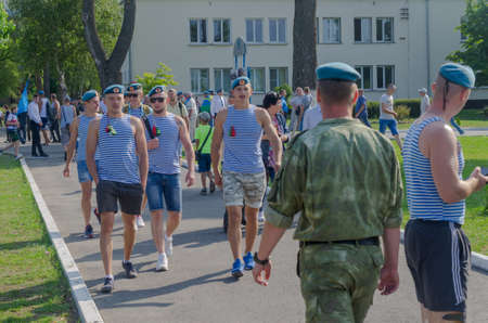 Brest, Belarus - August 2 , 2019: Day of airborne troops and special forces