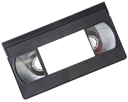 videotape: a photo of a videotape a over white background Stock Photo