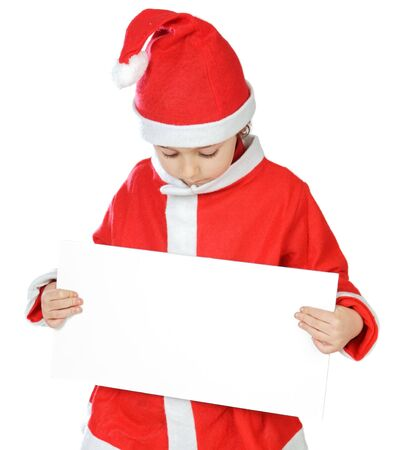 Photo of an adorable boy in christmas with a billboard photo