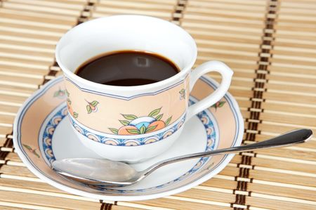 A photo of a Cup of coffee a over white background Stock Photo - 702211