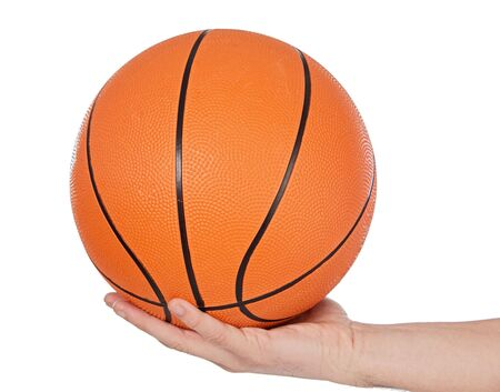 a photo of a Basketball on white background Stock Photo - 735567