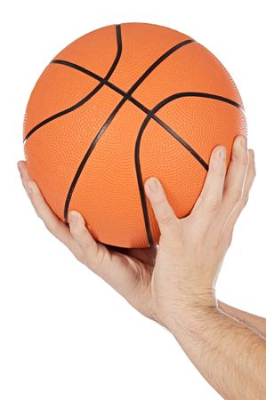 spheric: a photo of a Basketball on white background Stock Photo