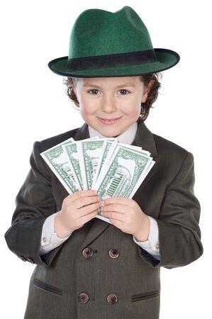 remuneraci�n: fondo futuro adorable del blanco del excedente del hombre de negocios a