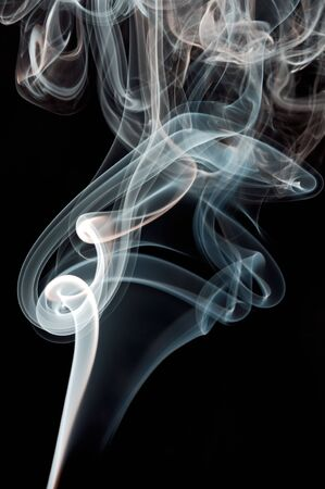 incense: Abstract smoke background a over black background