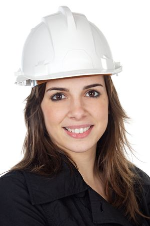 attractive student of engineering a over white background Stock Photo - 808586