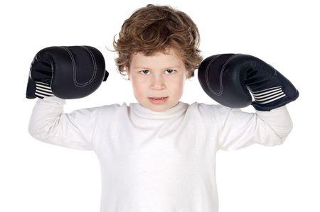 delincuencia: muchacho adorable que se defiende del hostigamiento escol�stico