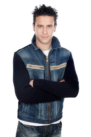 attractive casual boy a over white background Stock Photo - 930476