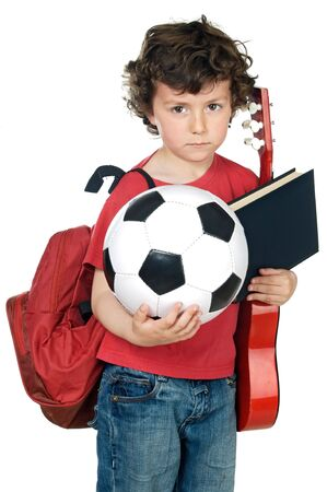 adorable child tired to make activities extracurricular