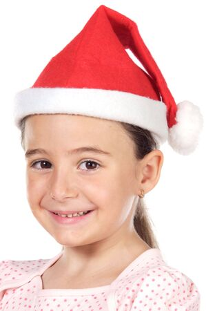 a Little Santa a over white background Stock Photo - 1328969