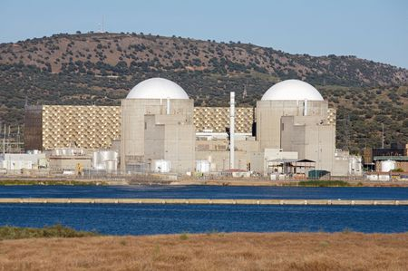 Nuclear power station with two atomic reactors Stock Photo - 1352596