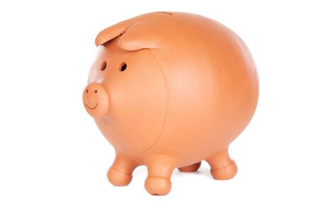 Photo of a money box a over white background photo
