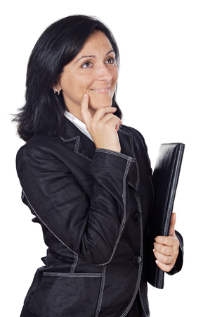 elegant business woman over a white background photo