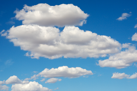 cloud formations: blue sky with white clouds in a precious day