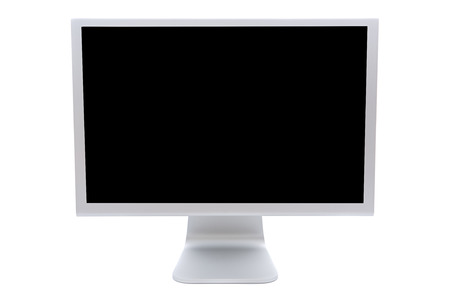 computer monitor in black over a white background  photo